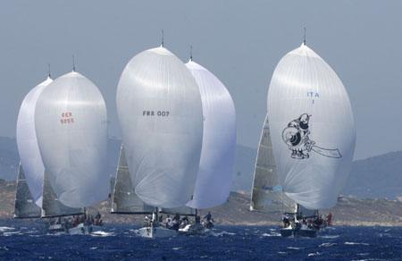 La flotta durante le regate di Porto Cervo - Photocredit Mascalzone Latino