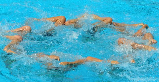 La squadra russa, oro nella finale sincro a squadre - Photocredit ANSA